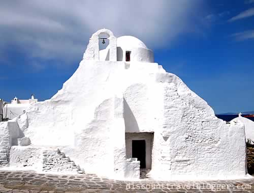 White Washed Mykonos Churches